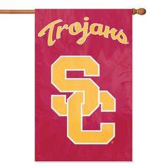 USC Trojans NCAA Applique Banner Flag (44x28) SC