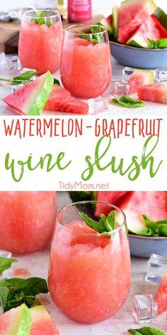 Watermelon Grapefruit Wine Slush