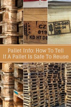 Pallet Info How To Tell If A Pallet Is Safe To Reuse - How can you be sure that the pallets you find are safe to use for whatever your project is? Where did the pallet come from and what was it used for before you found it? Machine Embroidery Quilts, Machine Quilting, Wood Packaging, Used Pallets, Outdoor Crafts, Repurposed Furniture, Diy Furniture, Diy Pallet Projects, New Crafts
