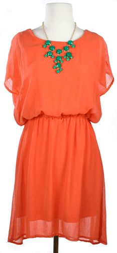 Coral Dress... what a great dress for spring and summer!