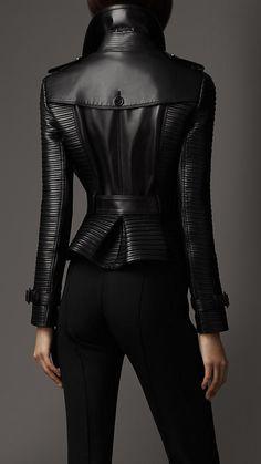 burberry veste cuir femme