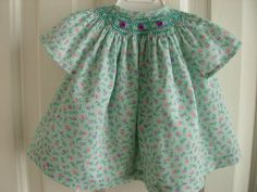 Green flowered Wee Care Gown.