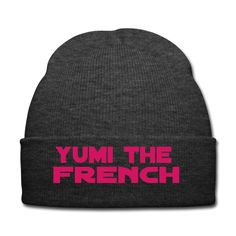 Yumi the French Strickmütze neonpink Mütze | Spreadshirt | #beanie #Strickmütze #Trend