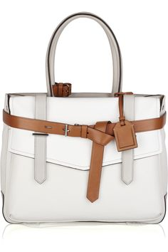 Boxer leather canvas tote