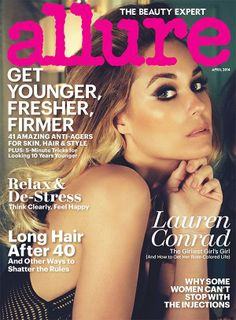 Lauren makeup from Allure cover// Chronicles of Frivolity