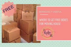 FREE BOXES FOR MOVING HOUSE