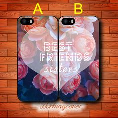 Coque Rose Sisters Forever Best Friends Case for iPhone 7 6S 6 5S SE 5 5C 4S 4 Plus Case Cover for iPod Touch 6 5 Case.