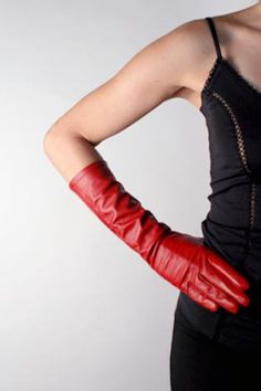 My Sensual silk lined almost elbow high Gloves