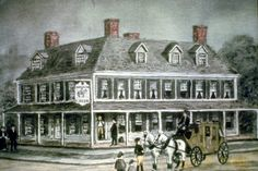 Old Beers Tavern at corner of Chapel and College. Now Hotel Taft.