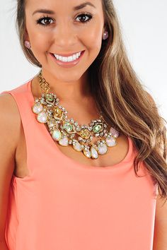Way She Smiles Necklace: Multi