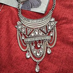 For Sale: Silver Statement Necklace  for $40