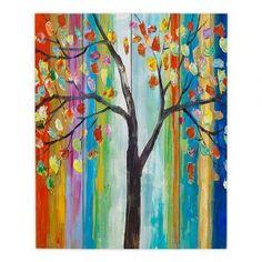 Decorative Wood Plank Wall Art | Lam Fuk Tim Color Tree