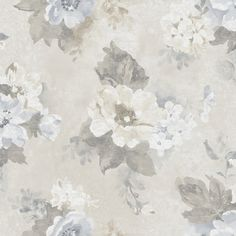 Blue Vintage Floral Wallpaper - Shabby Chic Faded Flower Wall, Cottage Garden Watercolor, Faux Aged Painted Oil Canvas -By The Yard Embossed Wallpaper, Damask Wallpaper, Wallpaper Panels, Rose Wallpaper, Wallpaper Roll, Wall Wallpaper, Botanical Wallpaper, Unique Wallpaper, Contemporary Wallpaper