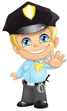 Resultado de imagen de POLICIAS DIBUJOS