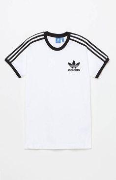 adidas California White & Black T-Shirt Addidas Shirts, Adidas Outfit, Boyfriend T Shirt, Personalized T Shirts, Pull, Shirt Outfit, Fashion Outfits, Clothes, Pacsun