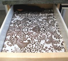 Oil cloth drawer liners