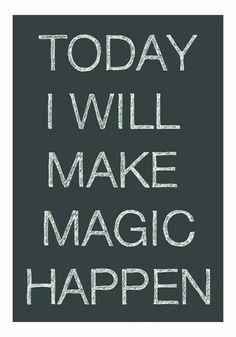 Making magic to Day