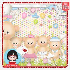 Kit - Little Bears by Fa Maura [FaMaura_KitLittleBears] - R$19.92 : FaMaura.com - scrapshop