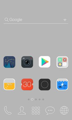 """[New Theme] """"New Gray by Dodol Launcher"""" A hip theme full of simple and distinctive icons!"""