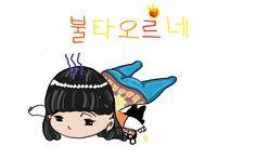 YoonJi Chibi by MyPins :D #bts #btsyoongi #btsyoonji
