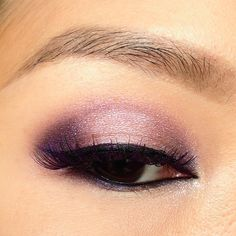 Shimmery, purple smokey eye with YSL Pure Chromatics #13 eyeshadow quad. Asian eye makeup ideas, easily adaptable for monolids.