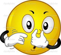 illustration mettant en vedette un smiley qui couvre son nez Smiley Emoji, Emoticon Faces, Animated Emoticons, Funny Emoticons, Funny Emoji, Emoji Images, Emoji Pictures, Smiley Horror, Beste Emoji