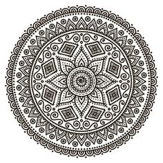 Mandala. Round ornement. Vintage �l�ments d�coratifs. Main fond dessin�e photo