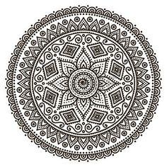 Mandala. Round ornement. Vintage �l�ments d�coratifs. Main fond dessin�e photo