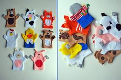 Finger Puppet For Kids Farm Animals