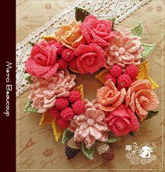 Picot Crochet, Crochet Brooch, Crochet Collar, Irish Crochet, Crochet Motif, Crochet Flower Tutorial, Crochet Flower Patterns, Crochet Designs, Crochet Flowers