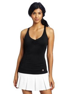 Fila Tennis Women's Essenza Cami Tank, Black, Small by Fila. $35.20. Show your best on the court (and off it, too) in this figure-flattering fit tank from Fila.