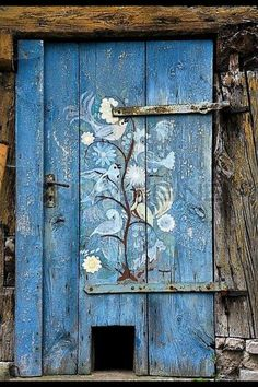Beautiful blue door