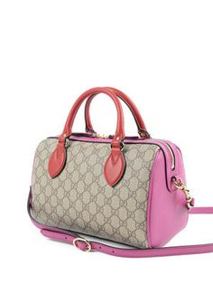 Gucci: bowling bags online - GG Supreme leather bowling bag