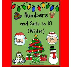 Numbers and Sets to 10 (Winter) -- Each page has sets of objects (winter theme) 0-10 in random order. Students are to cut out the numbers along the bottom of page and glue to match the correct set of objects. http://drclementskindergarten.blogspot.com/