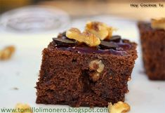Brownie de nueces con chocolate