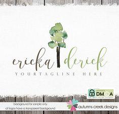 premade logo  photography logo  tree logo hand by autumnscreek