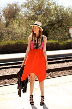 A Little Dash of Darling: Colorblock Dress