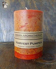 "Badan Body Harvest Pumpkin Cinnamon Clove Scented Pillar Candle, 3"" x 4.5"" - Venue and reception decor (*Amazon Partner-Link)"