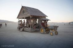 The Front Porch and Bessie at Burning Man. Image by Scott London, http://scottlondon.com/photo/