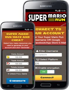 Super Mario Run hack tool is online cheat tool for generating unlimited coins, toads, and tickets. Get FREE Super Mario Run resources.