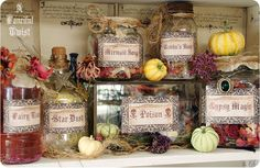 Potions and Spells Apothecary Jar Labels -Magical Makings Set of 6. $10.00, via Etsy.