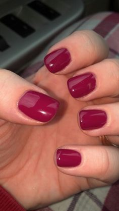 Had shellac done for the first time in a really pretty raspberry color. Would definitely have it done again. @Venetian Nail Spa at the Dayton Mall.
