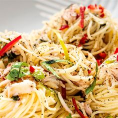 This crab pasta recipe is lovely and fresh and won't leave you feeling heavy like other pastas.