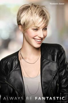"""Pixie Perfect."" Ask your stylist for a layered pixie cut with longer bangs. #ShortHairstyles #Pixie #Blonde"
