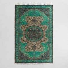 Handwoven in India of 100% natural jute and screen-printed with an exclusive design, our Persian-style area rug is stonewashed for an antique finish. This would look so great in my salon!!!