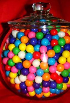 Rainbow gumballs!