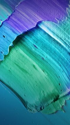 Purple, Blue & Green Mixed Paint