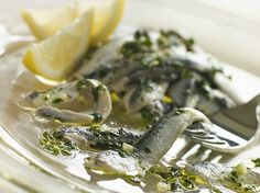 Fresh Anchovies with Lemon Juice