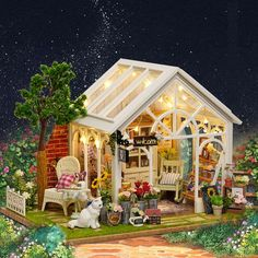 DIY Wooden Garden Shed Miniature Doll House