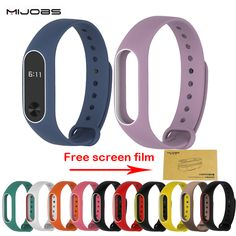 Colorful Silicone Wris Xiaomi Mi band 2 Strap Colorful Strap Wristband Replacement Smart Band Accessories For Mi Band 2 Silicone Screen Film, Custom Website, Wearable Device, Fitness Tracker, Band, Colorful, Stuff To Buy, Guangzhou, Free Shipping